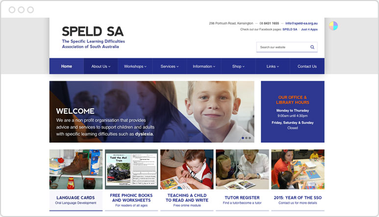 Website developed for SPELD SA